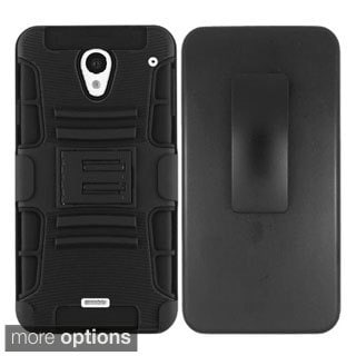 INSTEN Advanced Armor Hybrid Stand Rubberized Hard Plastic PC/ Silicone Holster Phone Case Cover For Sharp Aquos Crystal