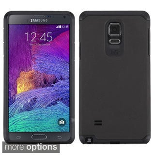 INSTEN Dual Layer Hybrid Rubberized Hard Plastic PC/ Silicone Phone Case Cover For Samsung Galaxy Note 4