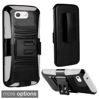 INSTEN Advanced Armor Dual Layer Hybrid Rubberized Hard Plastic PC/ Silicone Holster Phone Case Cover For Sony Xperia Z3