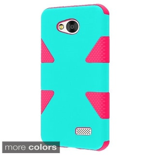 INSTEN Dual Layer Hybrid Rubberized Hard Plastic PC/ Silicone Phone Case Cover For LG Tribute