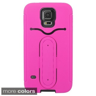 INSTEN Dual Layer Hybrid Stand Rubber Silicone/ PC Card Slot Phone Case Cover For Samsung Galaxy S5 SM-G900