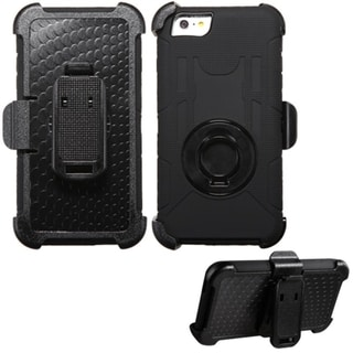 INSTEN Dual Layer Hybrid Rubberized Hard Plastic PC/ Silicone Holster Phone Case Cover For Apple iPhone 6 Plus