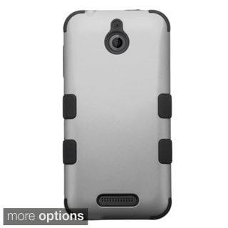INSTEN Dual Layer Hybrid Rubberized Hard Plastic PC/ Silicone Phone Case Cover For HTC Desire 510