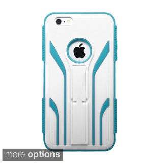 INSTEN Extreme Tuff Dual Layer Hybrid Rubberized Hard Plastic PC/ Silicone Phone Case Cover For Apple iPhone 6 Plus