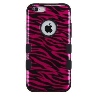 INSTEN Zebra Dual Layer Hybrid Rubberized Hard Plastic PC/ Silicone Phone Case Cover For Apple iPhone 6