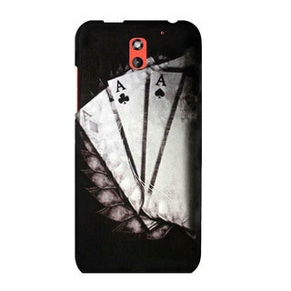 INSTEN Antique Design Pattern Rubberized Hard Plastic PC Snap-on Phone Case Cover For HTC Desire 610/ 612