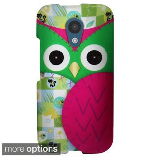 INSTEN Pattern Design Style Rubberized Hard Plastic PC Snap-on Phone Case Cover For Motorola Moto G 2nd Generation