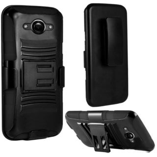 INSTEN Advanced Armor Dual Layer Hybrid Rubberized Hard PC/ Silicone Holster Phone Case Cover For Motorola Droid Turbo