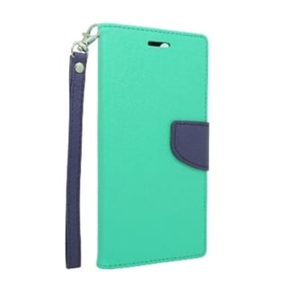 INSTEN Teal/ Blue Universal Folio Flip Leather Stand Wallet Phone Case Cover With Lanyard, Card Slot For 5-inch Size