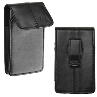 MYBAT Black 360-degree Swivel Large Universal Vertical Pouch Wallet With Magnetic Flip For 4.53x2.68x0.55-inch Size