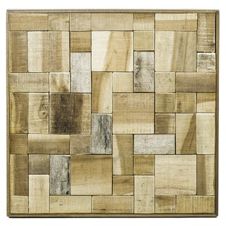 Evocative Mosaic Teak Plank Wall Hanging (Indonesia)