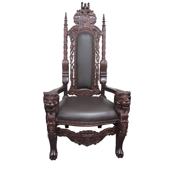 D-Art Mahogany Lion King Chair (Indonesia) 14487536