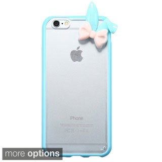 INSTEN Premium T-Clear 3D Cute Gummy TPU Hard Plastic PC Phone Case Cover For Apple iPhone 6