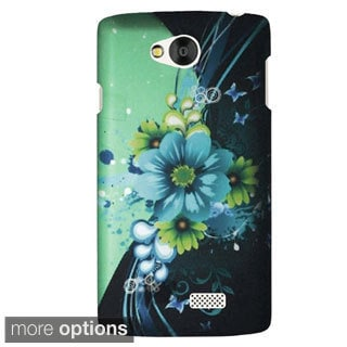 INSTEN Antique Design Pattern Rubberized Hard Plastic PC Snap-on Phone Case Cover For LG Tribute