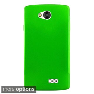 INSTEN Plain Frosted TPU Rubber Candy Skin Ultra-Slim Snap-On Phone Case Cover For LG Optimus F60/ Tribute