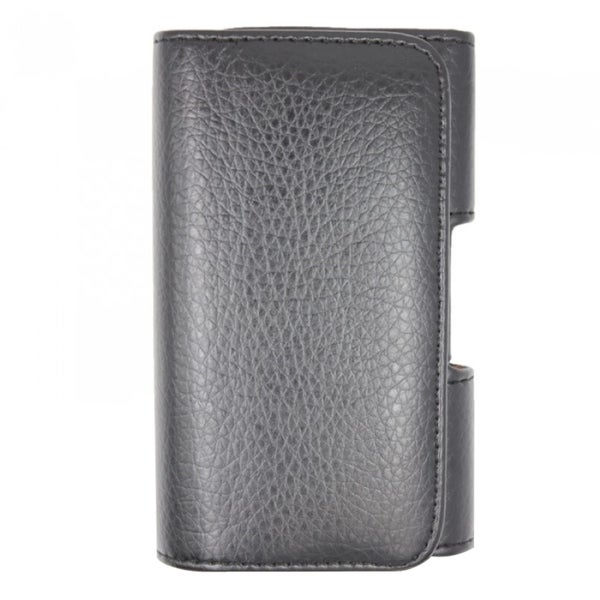 INSTEN Premium Black Leather Horizontal Pouch With Magnetic Flip For Apple iPhone 4/ 4S/ 5/ 5S/ Blackberry Storm 9530 Thunder