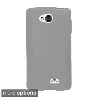 INSTEN Premium Plain Color TPU Rubber Candy Skin Slim Phone Case Cover For LG Optimus F60/ Tribute