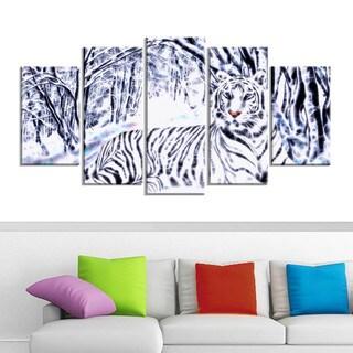 White Tiger White Forest Artwork (Multiple Sizes)