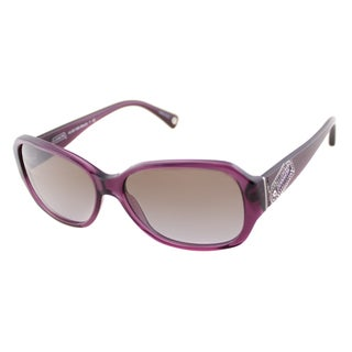 Coach Women's HC 8011BM Stacia 504368 Transparent Purple Sunglasses