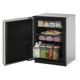 U-Line 3000 Series 3024 - 24 Inch Stainless Steel Solid Door Refrigerator