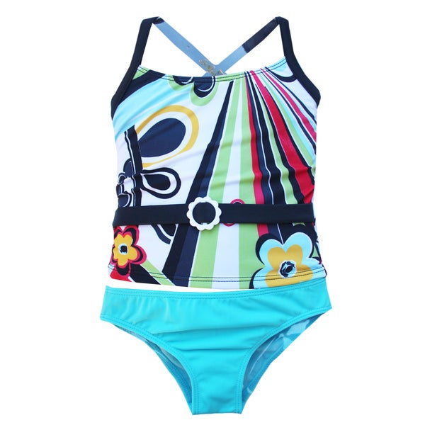 Azul Swimwear Girls' 'Rockin Retro' Tankini