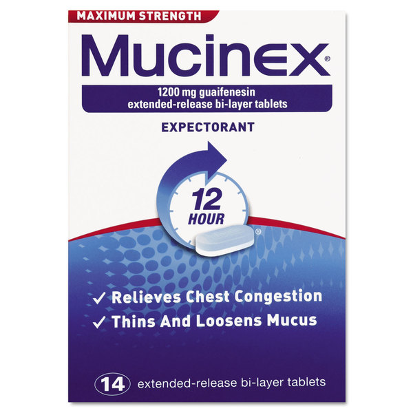 Mucinex Max Strength Expectorant Tablets 14 Count