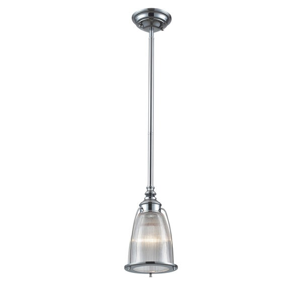 Elk Lighting Halophane 1-light Polished Chrome Mini Pendant 14488020