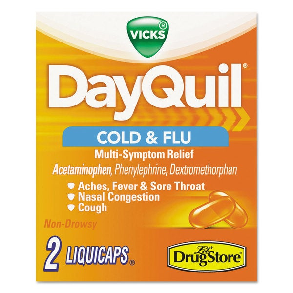 DayQuil Cold and Flu Two-Pack Caplets Daytime Refill 20 Count