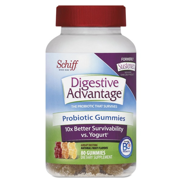 Digestive Advantage Probiotic Gummies Natural Fruit Flavors 80 Count