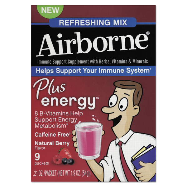 Airborne Immune Support Plus Natural Berry Energy Packets 9 Count