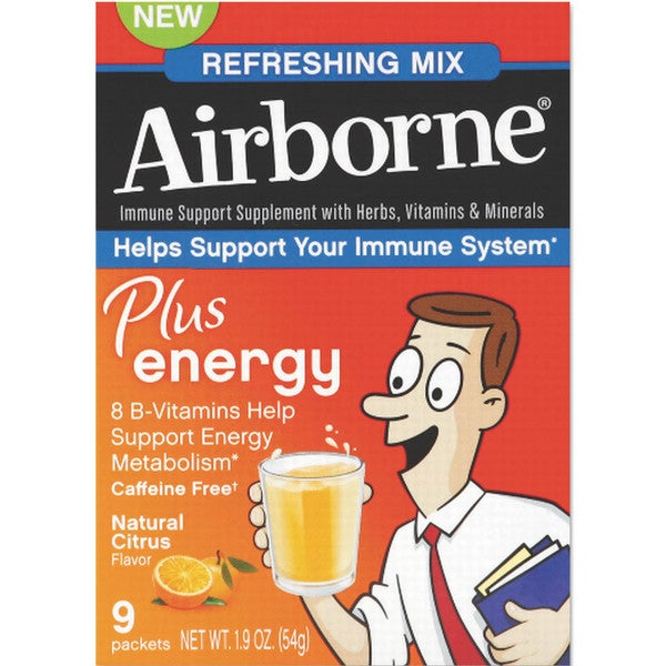 Airborne Immune Support Plus Energy Packet Citrus 9 Count