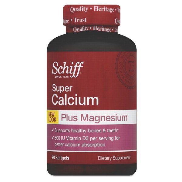 Schiff Super Calcium Plus Magnesium with Vitamin D Softgel 90 Count
