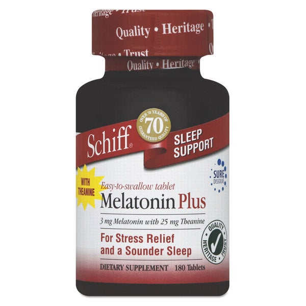 Schiff Melatonin Plus Tablet 180 Count