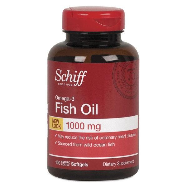 Schiff Omega-3 Fish Oil Softgel 100 Count
