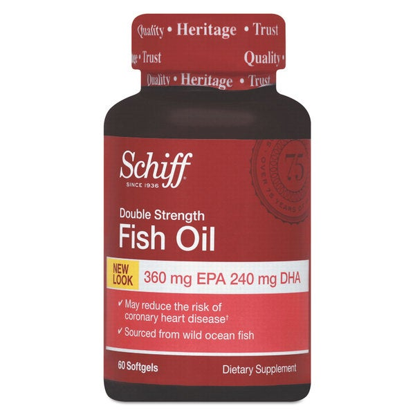 Schiff Omega-3 Fish Oil Softgel 60 Count