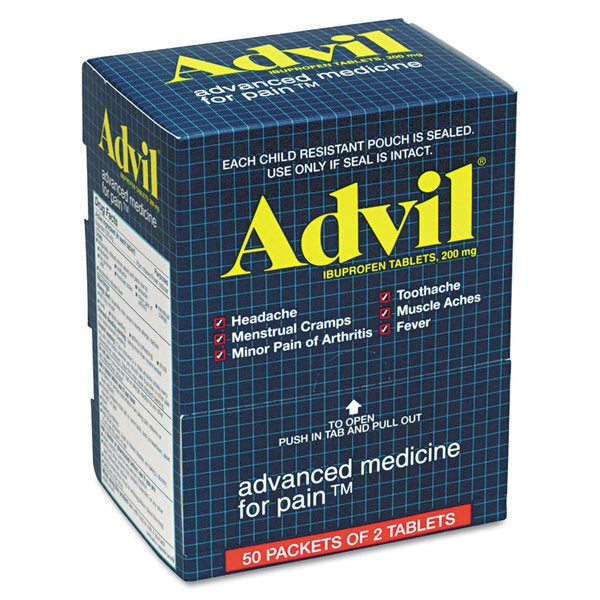 Advil Ibuprofen Tablet Two-Packs 50 Count