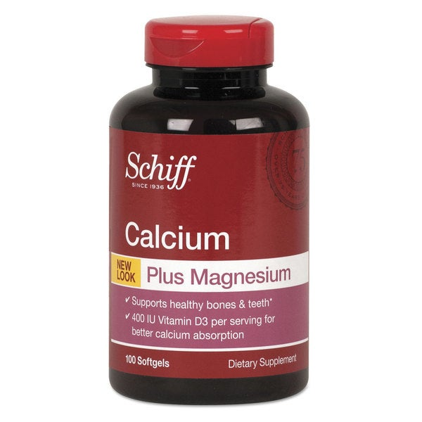 Schiff Calcium Magnesium with Vitamin D3 Softgel 100 Count