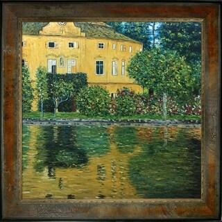 Gustav Klimt 'Schloss Kammer on Attersee' Hand Painted Framed Canvas Art