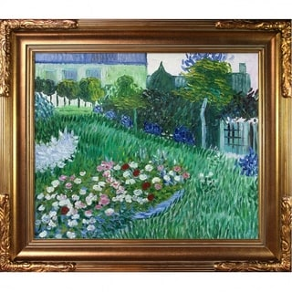 Vincent Van Gogh 'The Garden of Daubigny' Hand Painted Framed Canvas Art