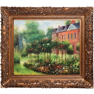 Pierre-Auguste Renoir 'The Garden at Fontenay, 1874' Hand Painted Framed Canvas Art