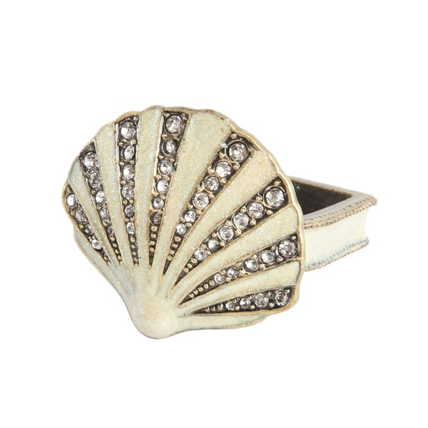 Oyster Shell Napkin Ring - set of 4