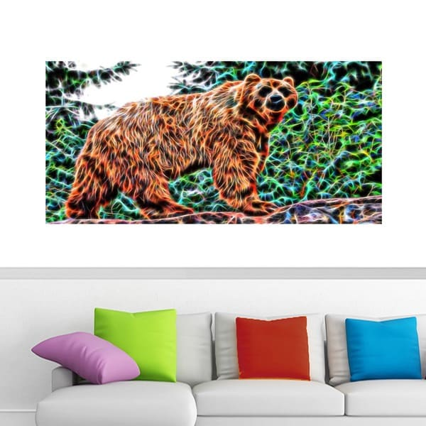 Brown Bear Animal Canvas Art (Multiple Sizes)