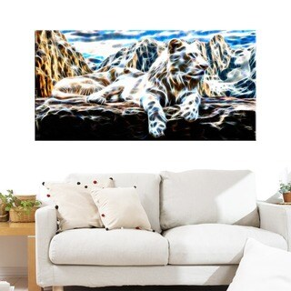 White Tiger Animal Art Canvas (Multiple Sizes)