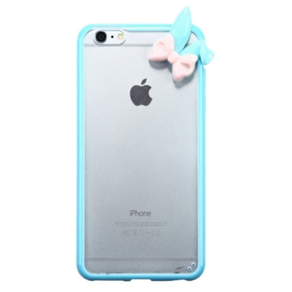 INSTEN Premium 3D TPU Rubber Candy Skin Transparent Phone Case Cover For Apple iPhone 6 Plus