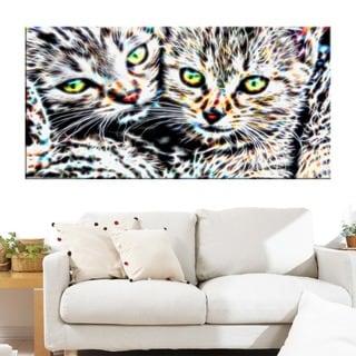 Cuddling Kittens Animal Art Canvas (Multiple Sizes)
