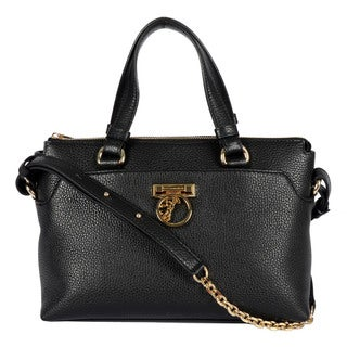Versace Collection Ladies Black Crossbody Satchel