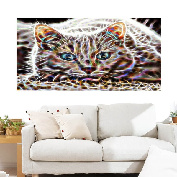 Cat Nap Abstract Cat Animal Canvas (Multiple Sizes)