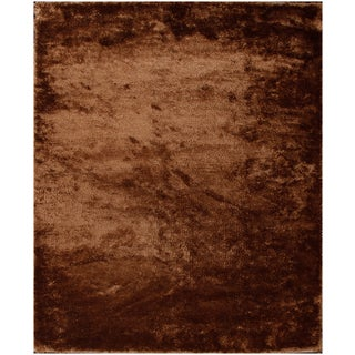 Stylish and Beautiful Brown Shag Solid Area Rug (8' x 10')