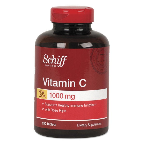 Schiff Vitamin C 1000 mg with Rose Hips Tablet 250 Count