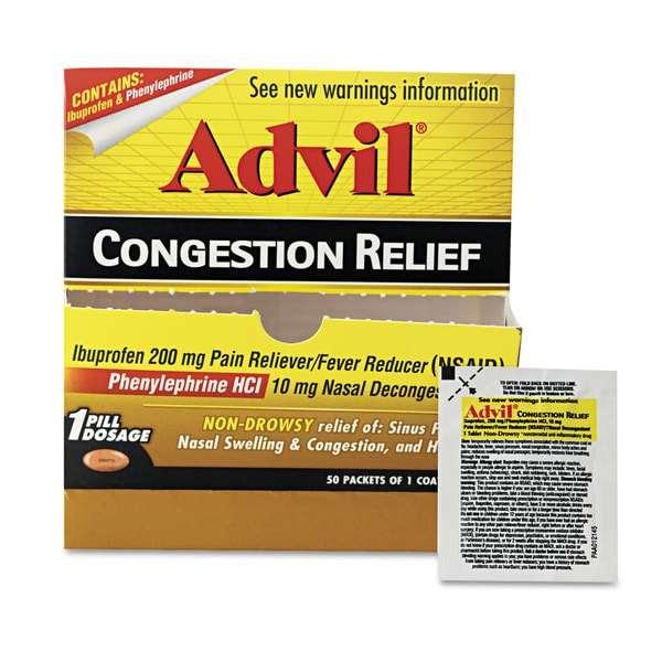 Advil Congestion Relief 50 Count